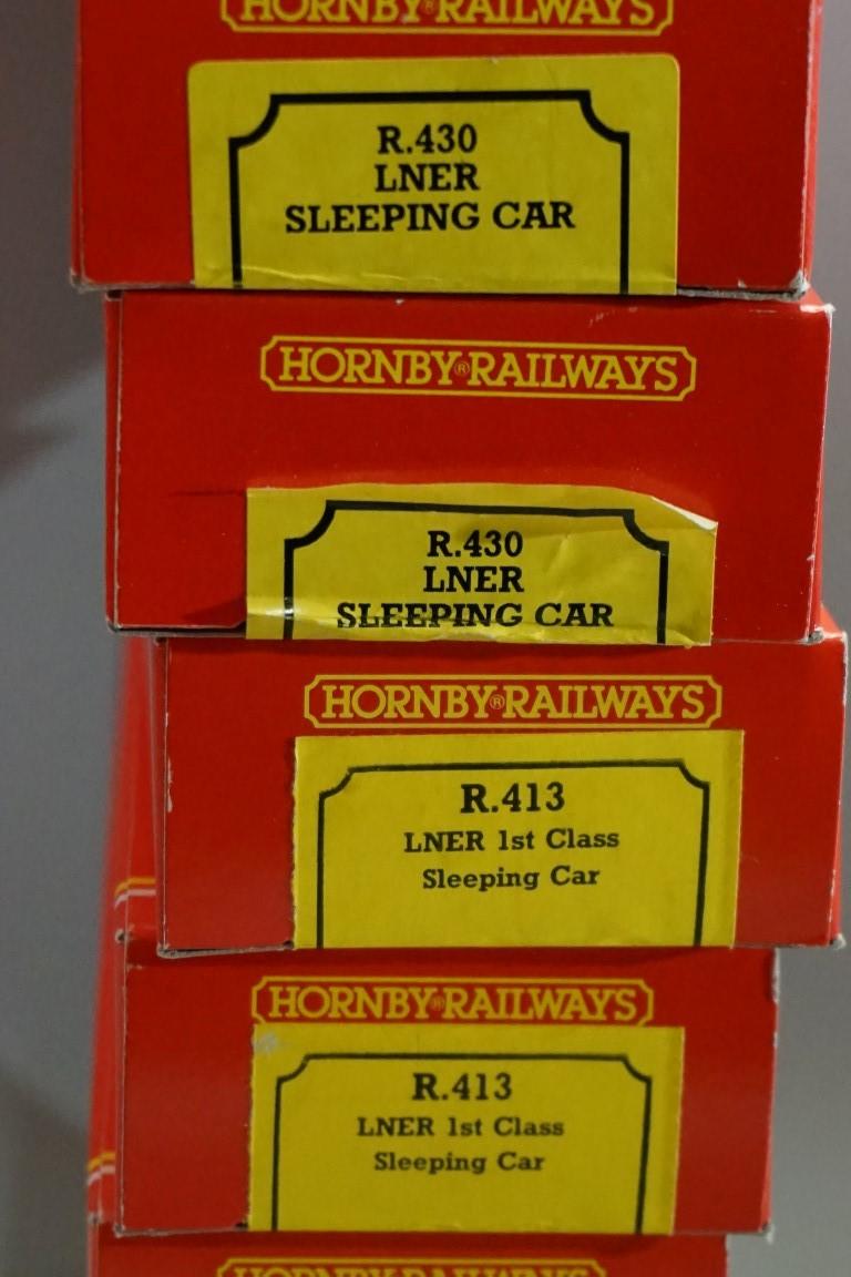 Eight Hornby 'OO' gauge LNER sleeping coaches, each in original box. (8) - Image 8 of 10