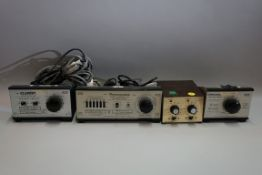A small collection of 'OO' controllers and transformers, comprising: a Gaugemaster Series 'D' twin
