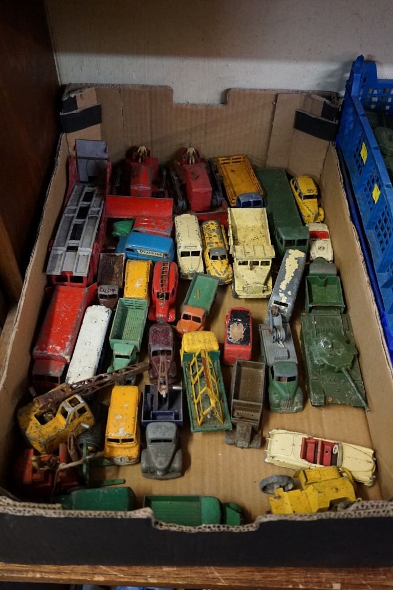 A large collection of vintage Dinky and Corgi diecast vehicles, (all playworn). (qty) - Image 5 of 8