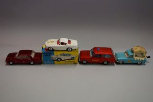 Four diecast vehicles, comprising: Corgi 258 'The Saints Car', boxed; Dinky 195 'Fire Chief's
