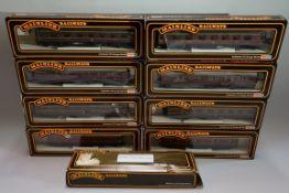 Nine 'OO' gauge LMS coaches, eight in Mainline box. (9)