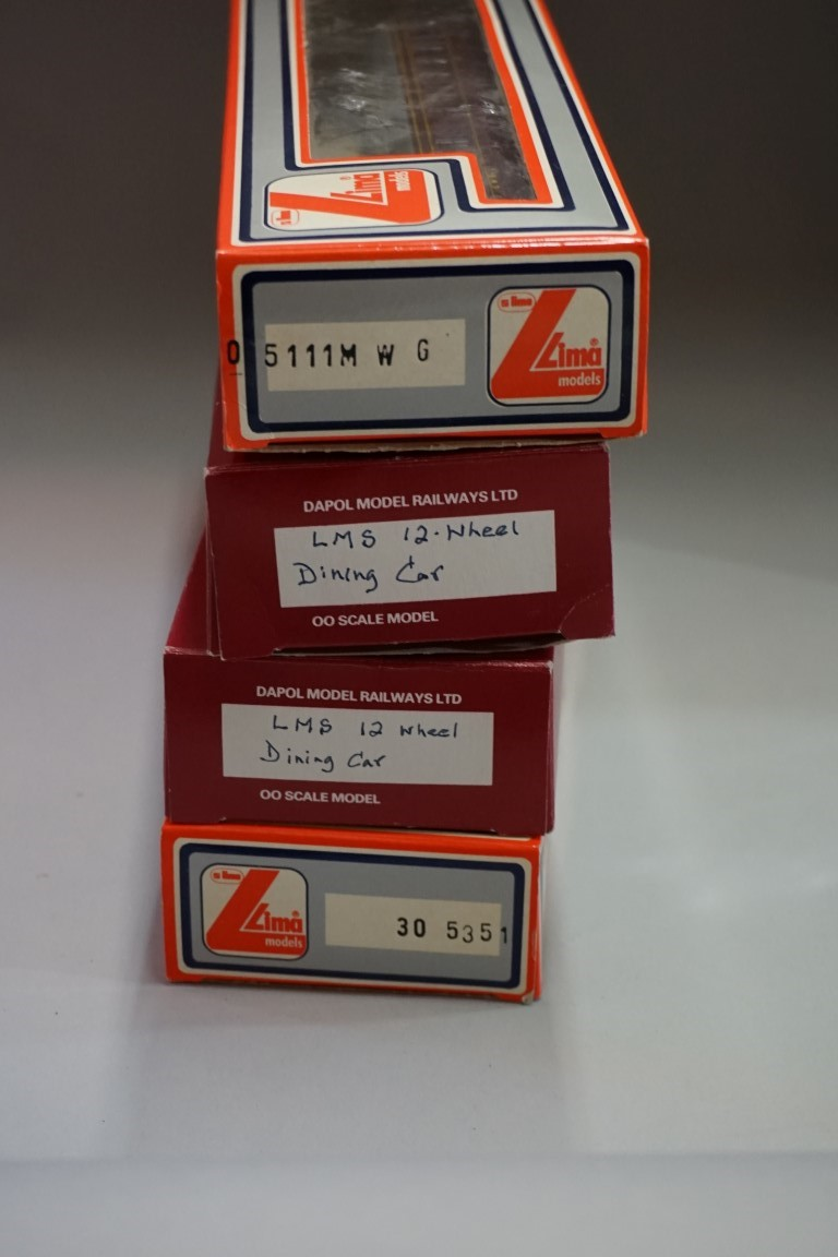 Seven various 'OO' gauge LMS coaches, each in box. - Image 7 of 8