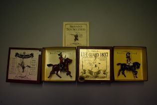Two Britain's cavalry figures, comprising 'Life Guard 1837'; and 'The Royal Dragoons', each boxed.