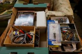 A large collection of 'OO' gauge items and other modeller's equipment, to include: various figures