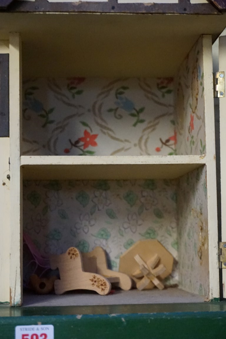 A vintage Triang 'Dolls' House No 23', 42cm high. - Image 3 of 3