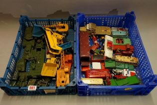 A collection of vintage Dinky and Corgi diecast vehicles, (mostly playworn). (qty)