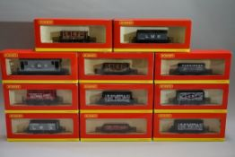 Eleven 'OO' gauge wagons, each in Hornby box. (11)