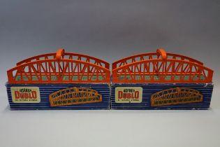 Two Hornby 'Dublo' D1 girder bridges, each in original box. (2)
