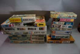 A collection of boxed model kits, comprising: nine Airfix examples; three Revell examples; and three