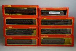 Eight various 'OO' gauge LMS coaches, each in associated box. (8)