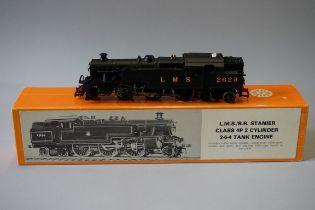 A DJH 'OO' gauge LMS 2-6-4 Stanier 4P Class 2-cylinder tank locomotive 2629, in original Nu-Cast
