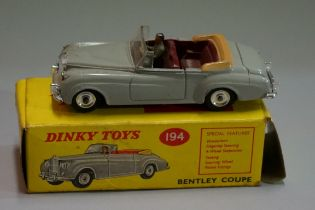A scarce Dinky 194 'Bentley Coupe', boxed.