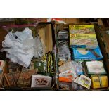 A large collection of 'OO' gauge items, comprising: scenery; backdrops; signals; kits; etc, some