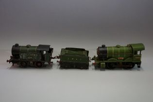 A Hornby O gauge O-4-0 LNER No 1 Special tank locomotive 1368 and tender; together with another