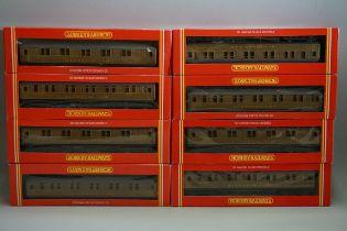 Eight Hornby 'OO' gauge LNER sleeping coaches, each in original box. (8)