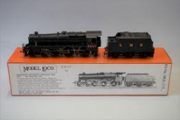 A DJH 'OO' gauge LMS 4-6-0 Black Five locomotive 5407 and tender, in original Model Loco Ltd box.