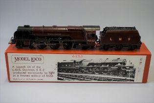 A DJH 'OO' gauge LMS 4-6-2 Princess Coronation Class 'Duchess of Sutherland' locomotive 6233 and
