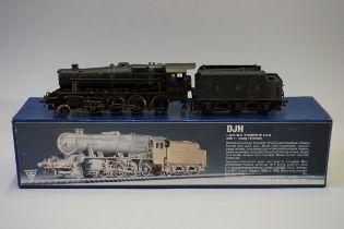 A DJH K45 'OO' gauge LMS 2-8-0 Stanier 8F locomotive 8158 and Mk.1 4000g tender, in original box.