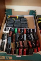 A large collection of 'OO' gauge wagons. (61)