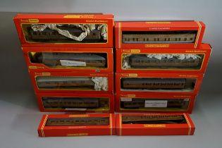 Ten OO gauge LNER coaches, each in Hornby box. (10)
