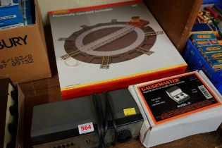 A collection of 'OO' gauge items, comprising: a Gaugemaster Model 'D' twin track controller,