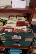 A collection of boxed model vehicles, comprising: thirty three Matchbox 'Models of Yesteryear';