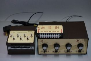 A Gaugemaster 'Series DS' controller;together with a Gaugemaster 'PCU1' electronic points