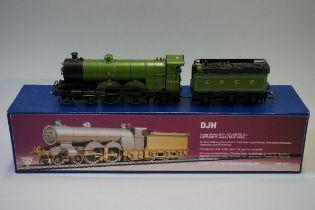 A DJH K73 'OO' gauge LNER 4-4-2 Ivatt Atlantic C1 large boiler locomotive 4446 and tender, in