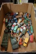 A large collection of vintage Dinky and Corgi diecast vehicles, (all playworn). (qty)