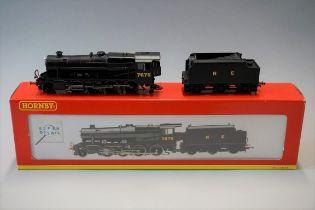 A Hornby R2227 'OO' gauge Stanier 8F 2-8-0 locomotive, built at LNER numbered 7675, lettered NE; and