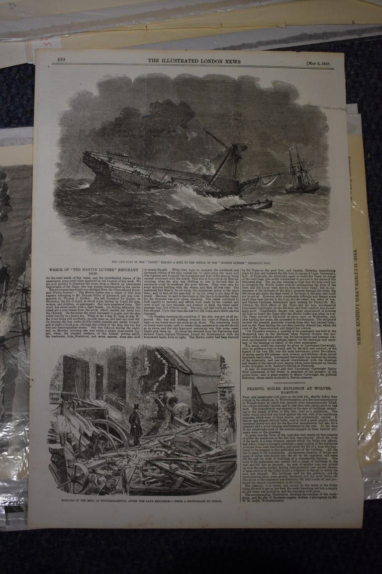 MARITIME ENGRAVINGS: SHIPWRECKS:collection of approx 50 prints and engravings, largely 18th-19th - Image 60 of 62