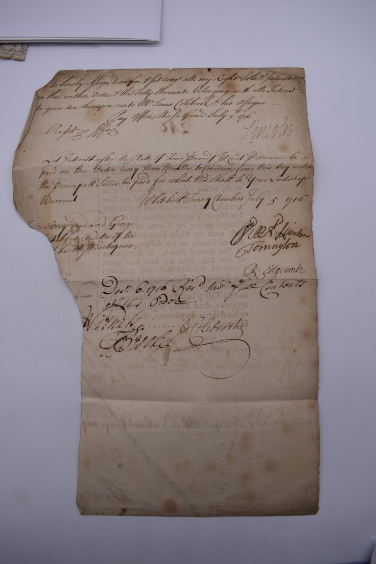 MARITIME ACCOUNTS, MID 18th CENTURY: Dr Samuel Wallis Esq with James Dickson, statement of accounts, - Image 5 of 16