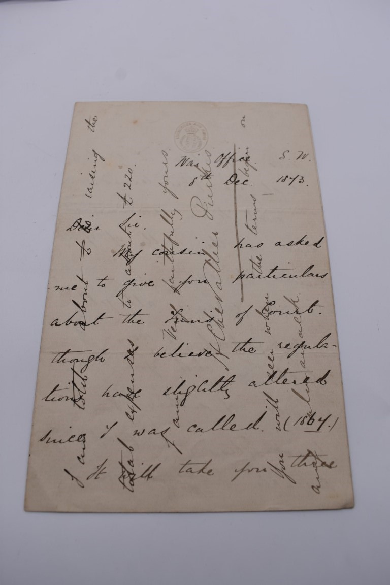 LETTERS, SIGNATURES, MANUSCRIPT MISCELLANY: a collection of over 45 items, largely 19th and early - Image 7 of 83