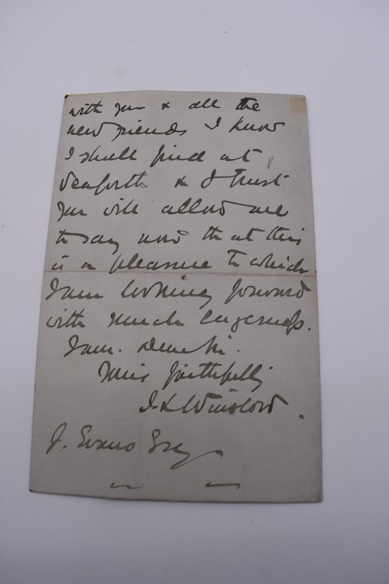 LETTERS, SIGNATURES, MANUSCRIPT MISCELLANY: a collection of over 45 items, largely 19th and early - Image 29 of 83