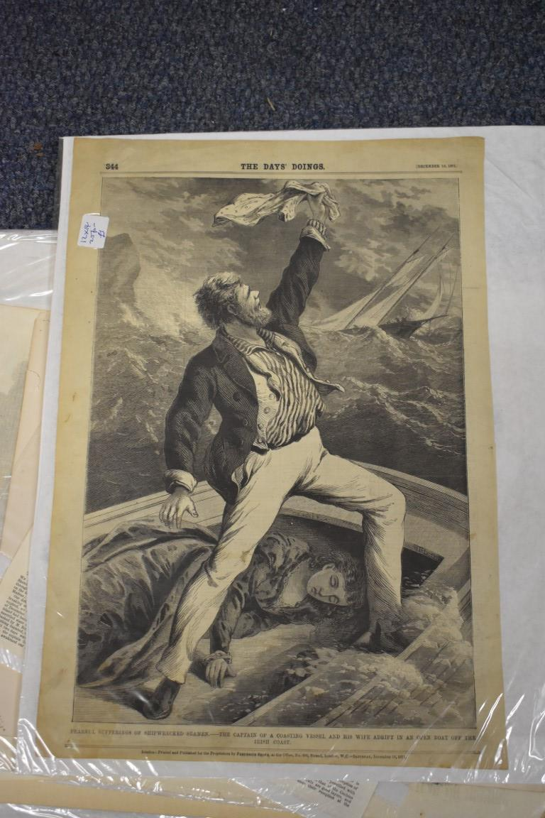 MARITIME ENGRAVINGS: SHIPWRECKS:collection of approx 50 prints and engravings, largely 18th-19th - Image 28 of 62