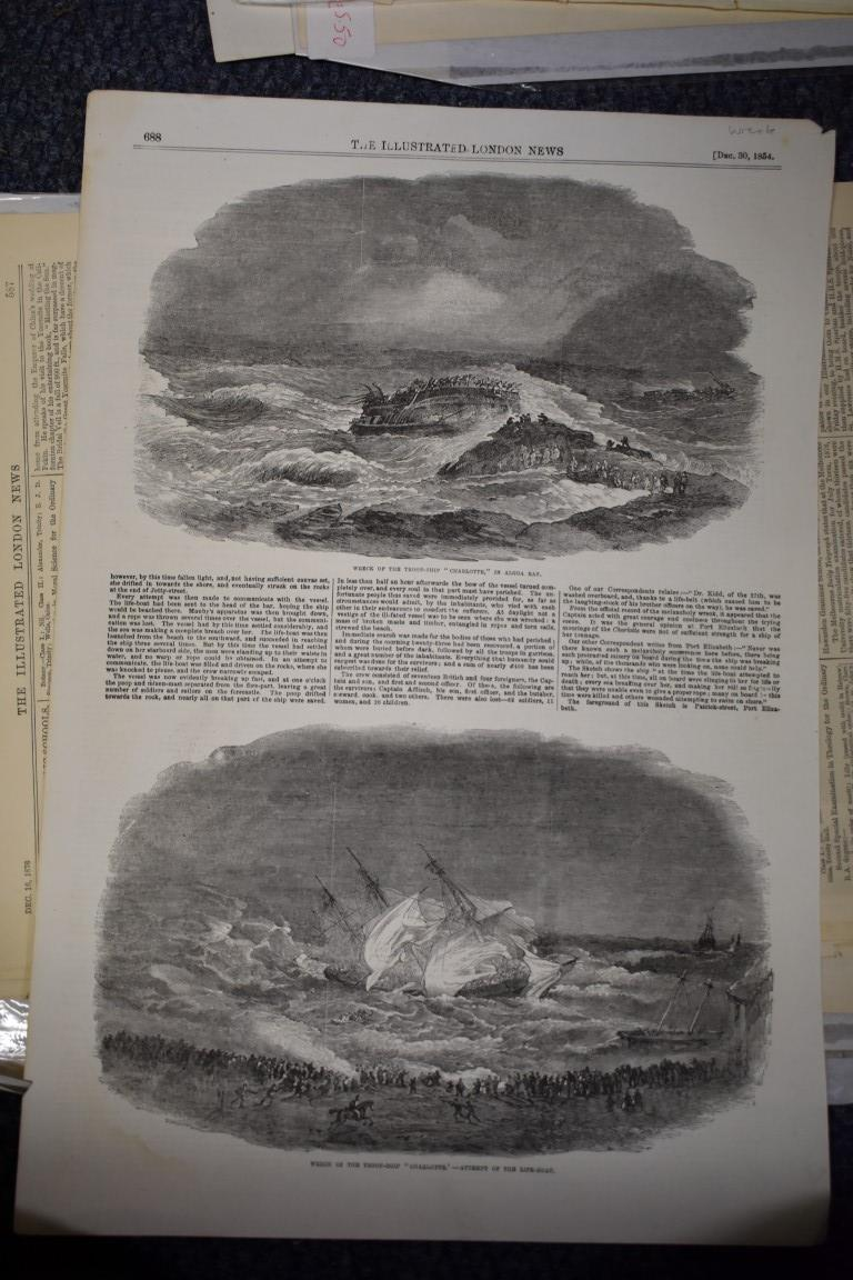 MARITIME ENGRAVINGS: SHIPWRECKS:collection of approx 50 prints and engravings, largely 18th-19th - Image 58 of 62