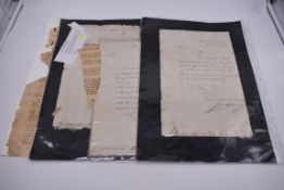 NAVAL ORDERS:collection of 3 late 18th century manuscript naval orders, variable condition,