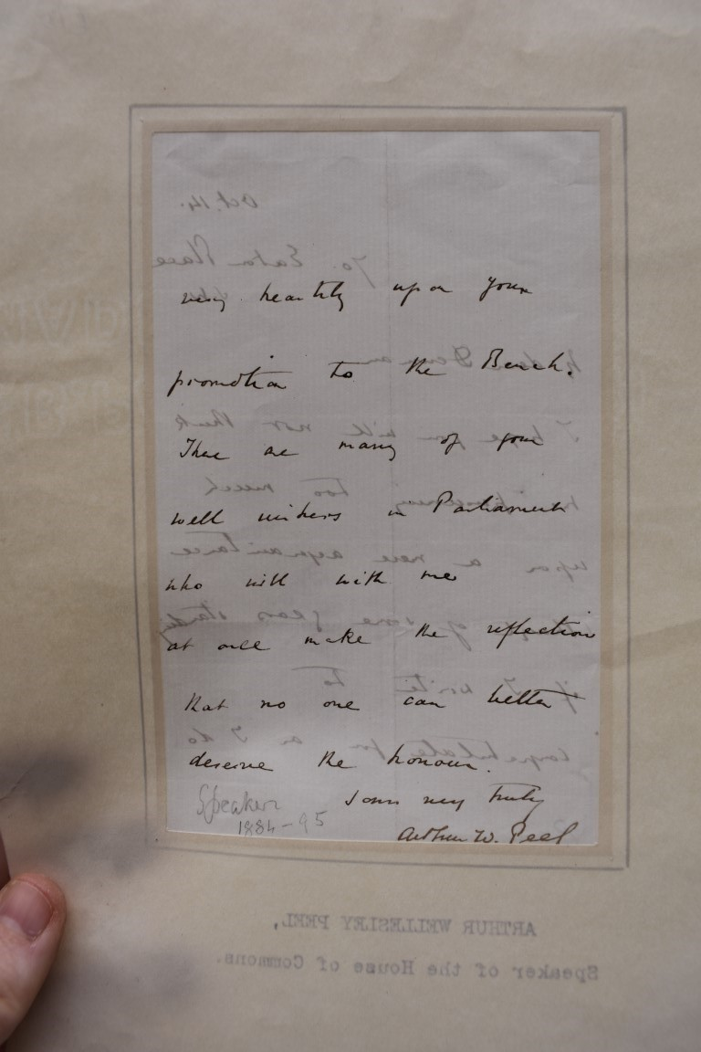 LETTERS AND AUTOGRAPHS, 19THC:collection of approx 33 ALS and cut autographs, largely 19th century - Image 6 of 46