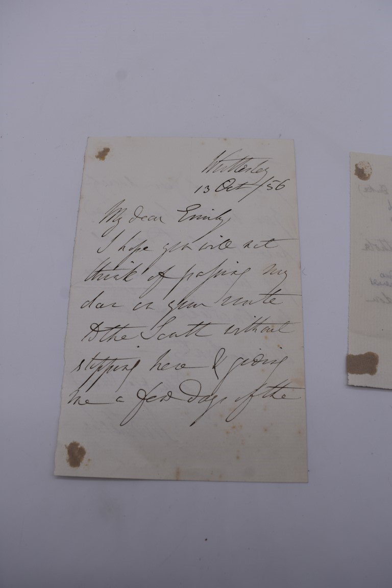LETTERS AND AUTOGRAPHS, 19THC:collection of approx 33 ALS and cut autographs, largely 19th century - Image 32 of 46