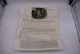 FLAX WAREHOUSE AT RIGA, INSURANCE DOCUMENT:Phoenix Assurance Company, 7th May 1825, to Messrs