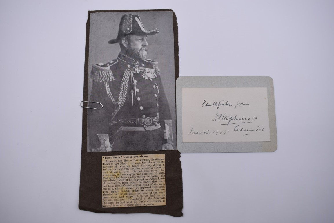 LETTERS AND AUTOGRAPHS, NAVAL AND MILITARY:collection of approx 30 items, late 18th-early 20thc, to - Image 31 of 51