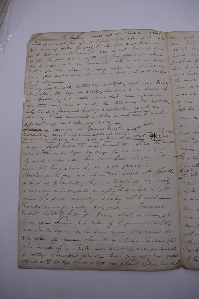 MARITIME ACCOUNTS, MID 18th CENTURY: Dr Samuel Wallis Esq with James Dickson, statement of accounts, - Image 7 of 16