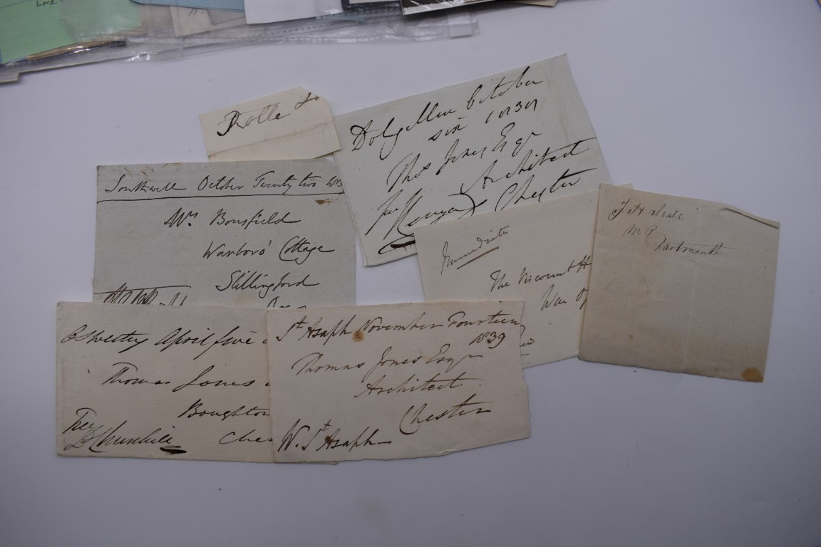 MANUSCRIPTS: a quantity of letters and cut signatures, largely 19th century. (A bundle) - Image 9 of 49