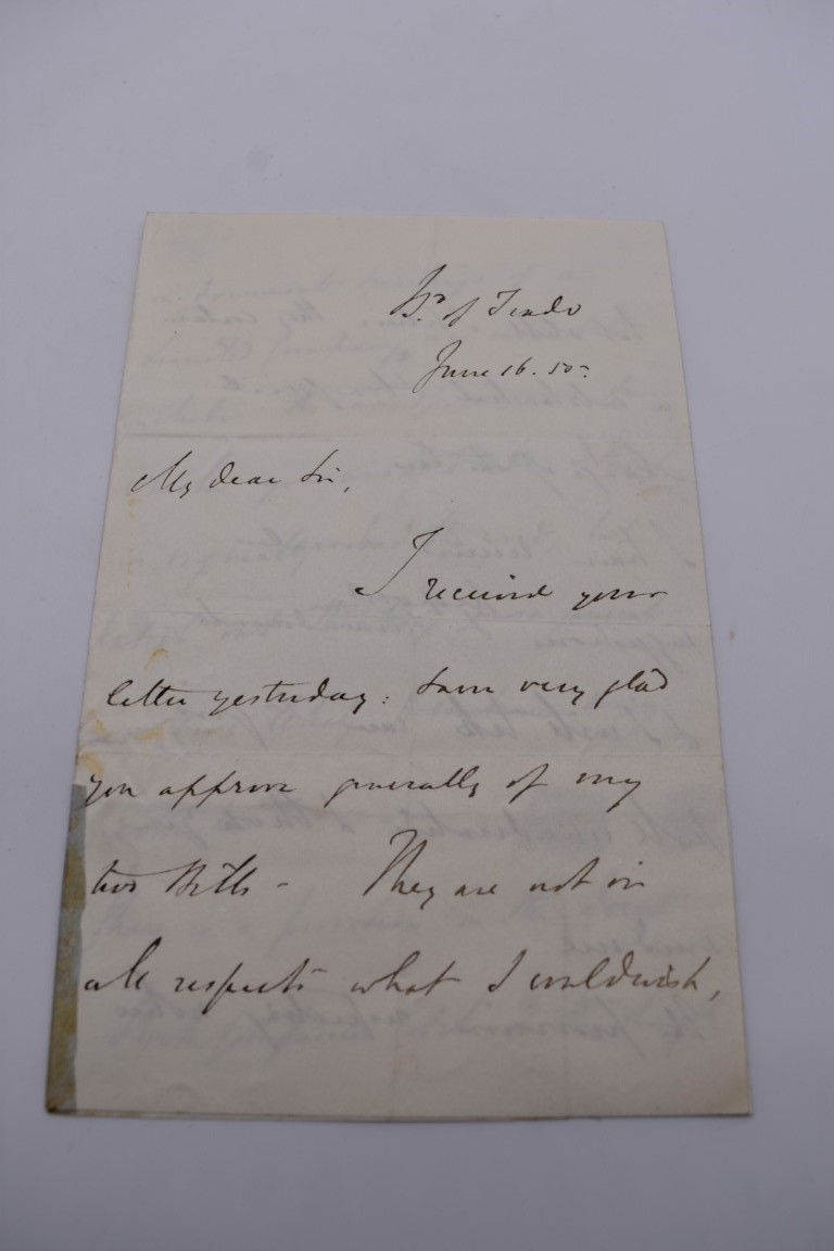 LETTERS, SIGNATURES, MANUSCRIPT MISCELLANY: a collection of over 45 items, largely 19th and early - Image 4 of 83