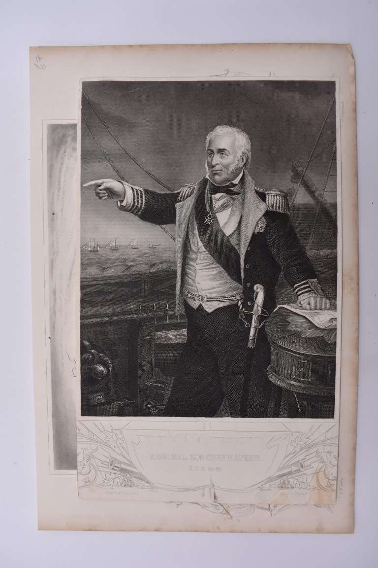 MARITIME PRINTS:collection of approx 61 maritime engravings and etchings, 18th-19th century, - Image 10 of 59