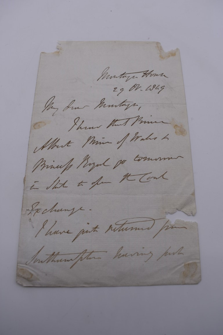 MANUSCRIPT MISCELLANY:a group of approx 27 items, largely 19thc ALS from nobility, churchmen, - Image 38 of 42
