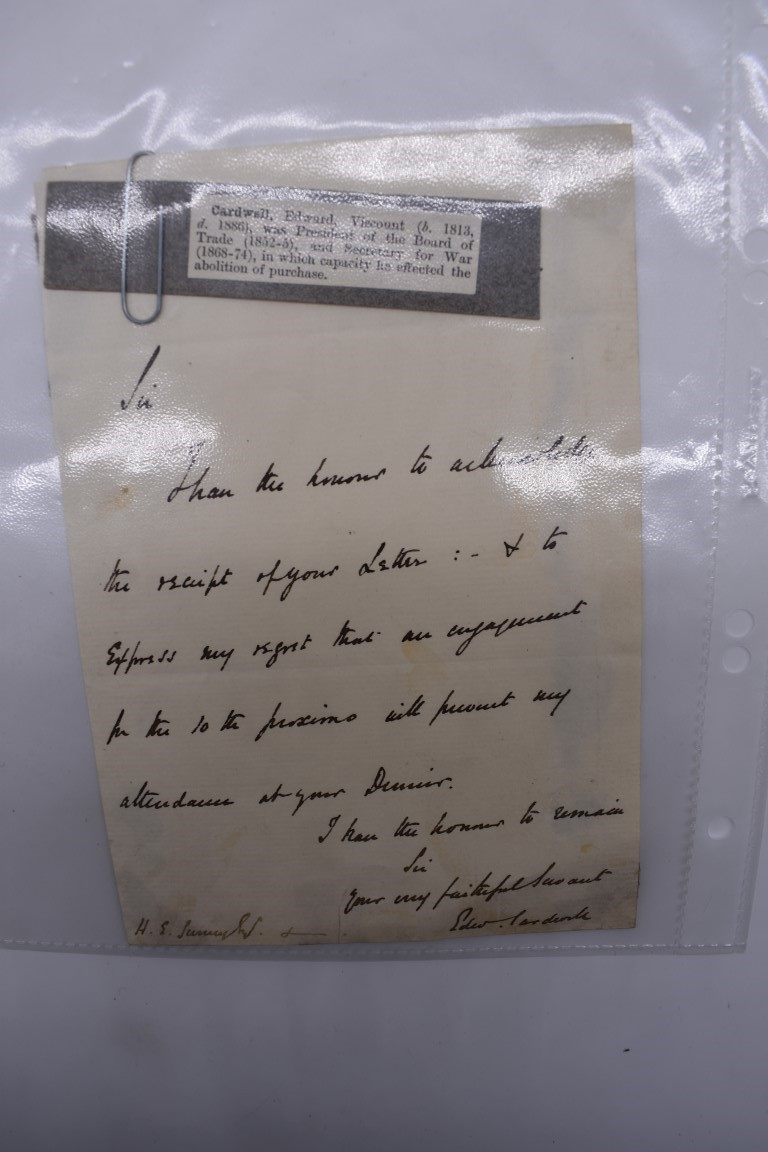 19TH CENTURY LETTERS & MANUSCRIPT:collection of approx 35 items, 19th century and a few later, - Image 5 of 53