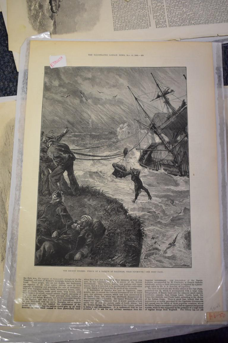 MARITIME ENGRAVINGS: SHIPWRECKS:collection of approx 50 prints and engravings, largely 18th-19th - Image 53 of 62