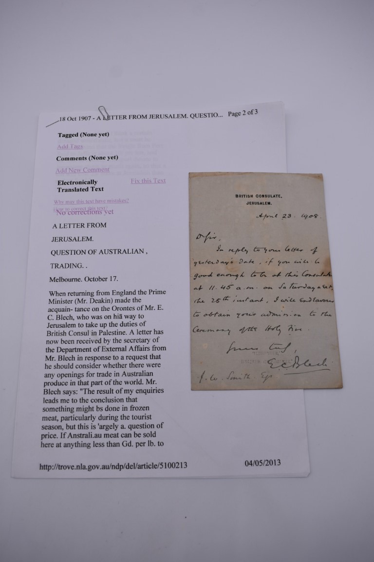 DOCUMENTS, LETTERS AND AUTOGRAPHS: collection of 5 items, to include: Approval of Disbursements of - Image 4 of 8