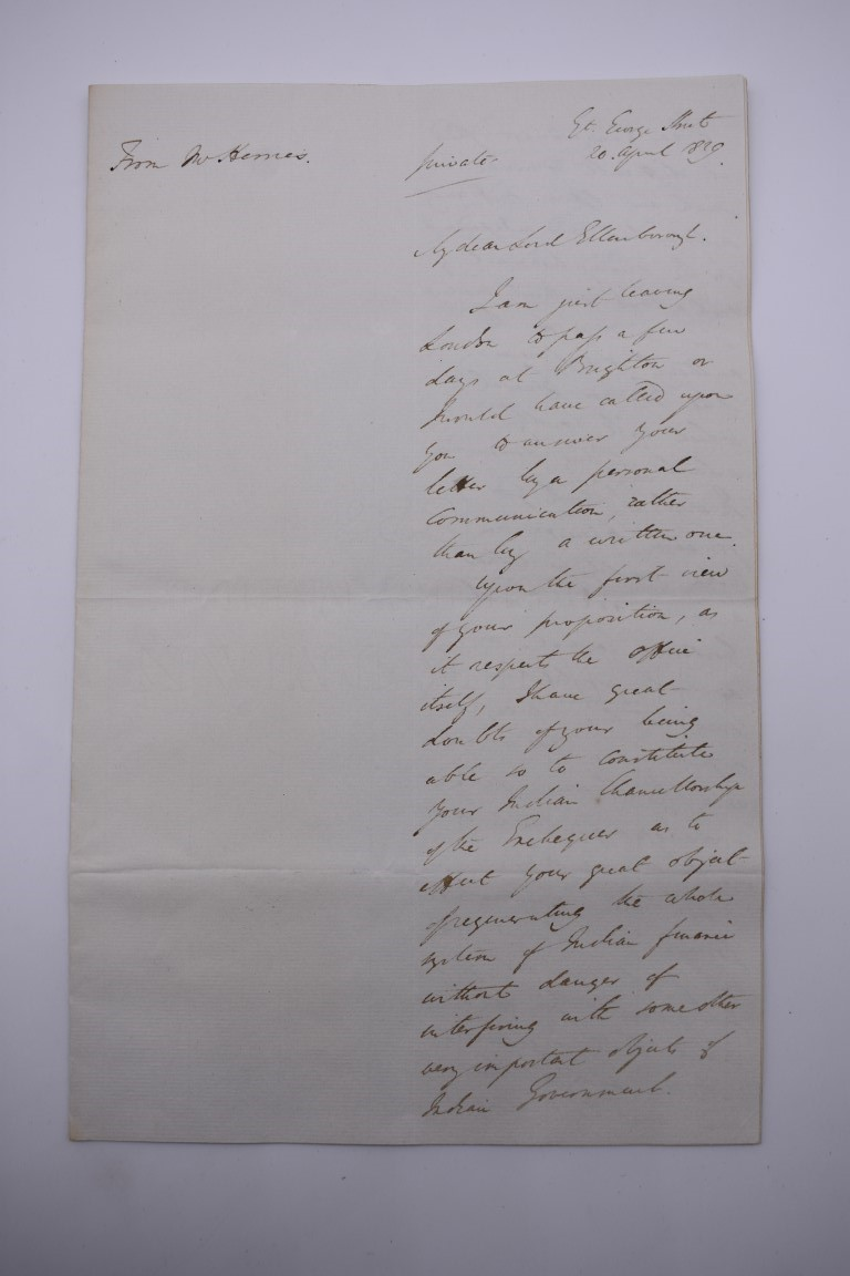 19TH CENTURY LETTERS & DOCUMENTS:two letters entire postmarked Penzance 1840, Buller family, - Image 11 of 23